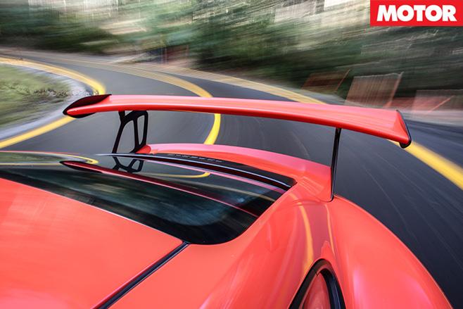 Porsche 911 GT3 RS rear spoiler