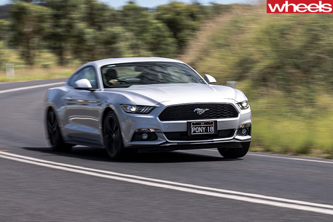 Ford -Mustang -Ecoboost -driving -front -side