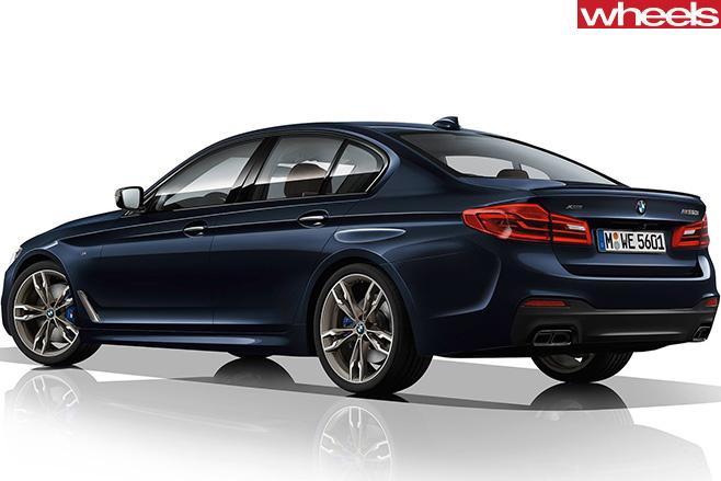 BMW-5-series -rear -side