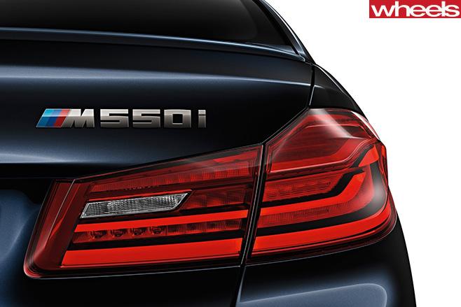 BMW-5-series -rear -badge