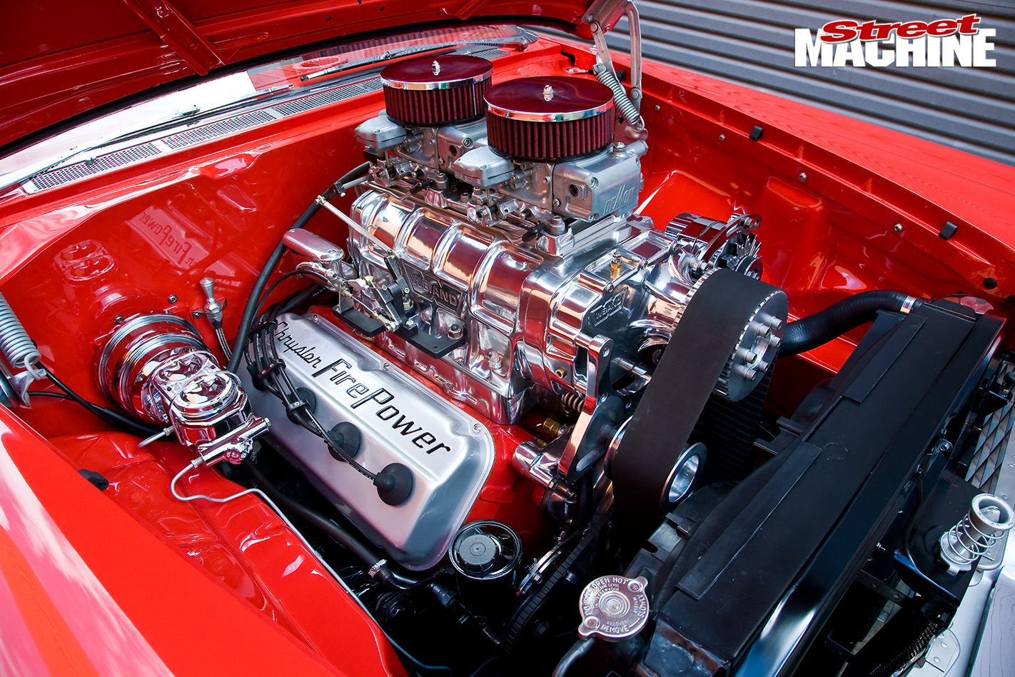 Blown -Plymouth -Belvedere -engine