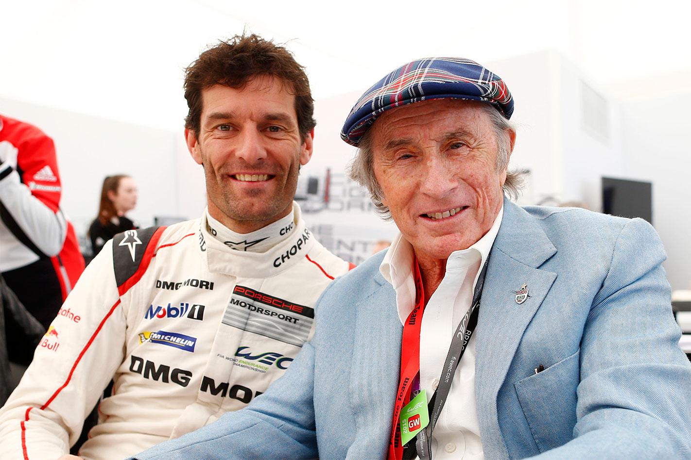 Mark Webber Jackie Stewart