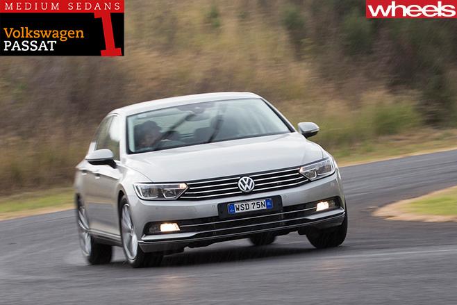 Volkswagen -Passat -driving -front -side