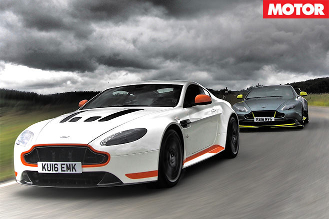 Aston martin vantages driving front