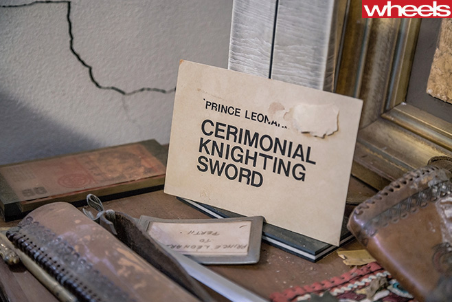 Prince -Leonard -Hutt -River -ceremonial -knighting -sword