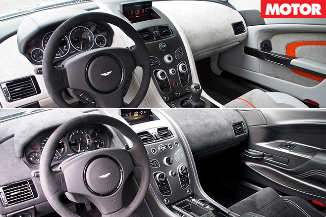 Aston Martin vantages interiors