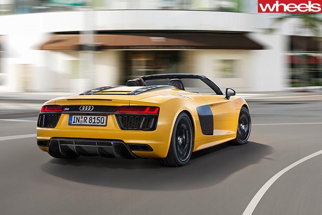 Audi -R8-spyder -rear -drivinjg