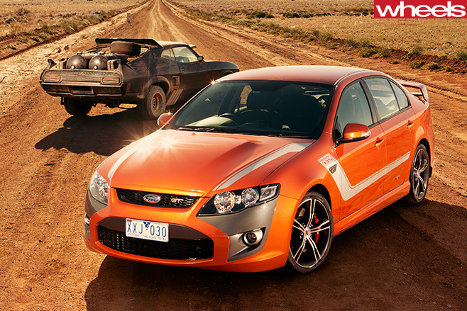 2010-FPV-GT-P-and -Mad -Max -interceptor -highway