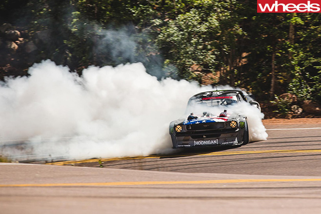 Pikes -Peak -climbkhana -Ken -Block -drifting -up -mountain