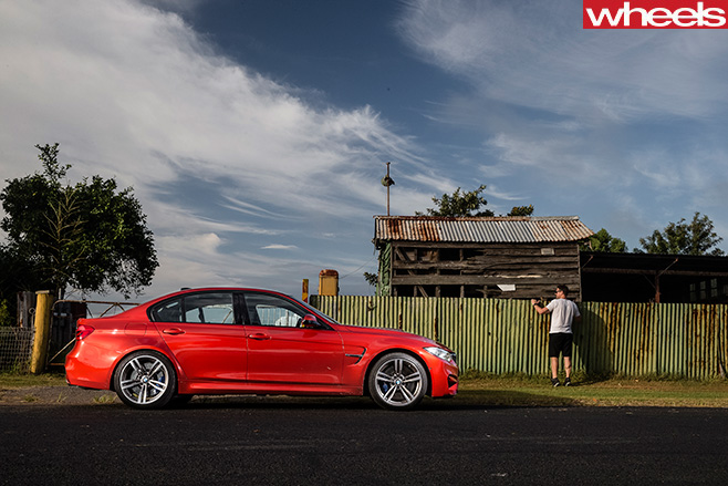 BMW M3 Side View Parked