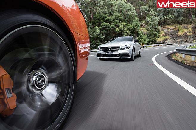 Lexus GS-F Vs Mercedes -AMG C63 S Driving Around Corner