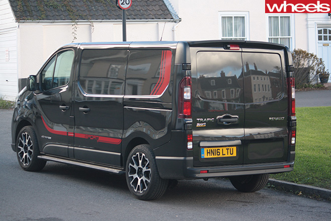 Renault -Trafic -Sport -rear -side -parked