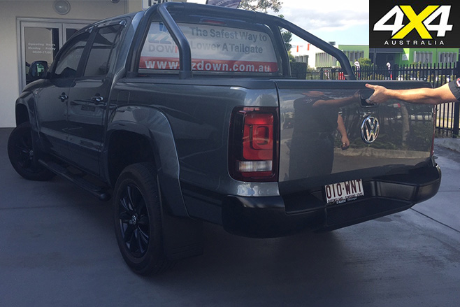 Vw amarok with tailgate closed