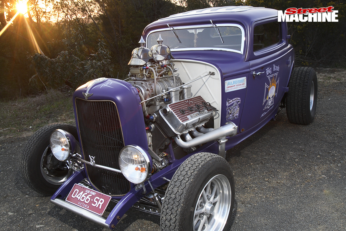 1932-HEMI-POWERED-FORD-THREE-WINDOW-COUPE-front -engine