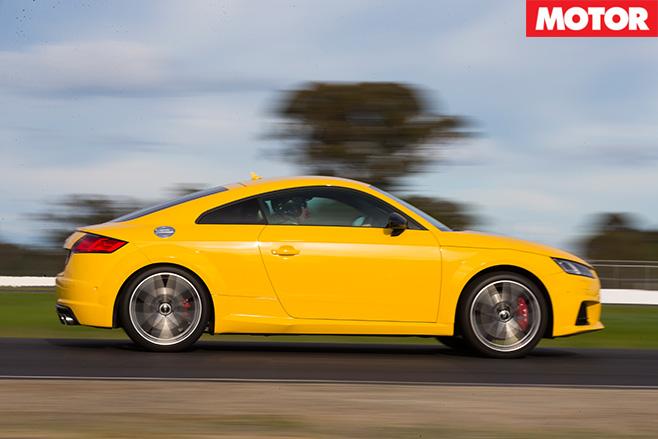 Audi TT S driving fast