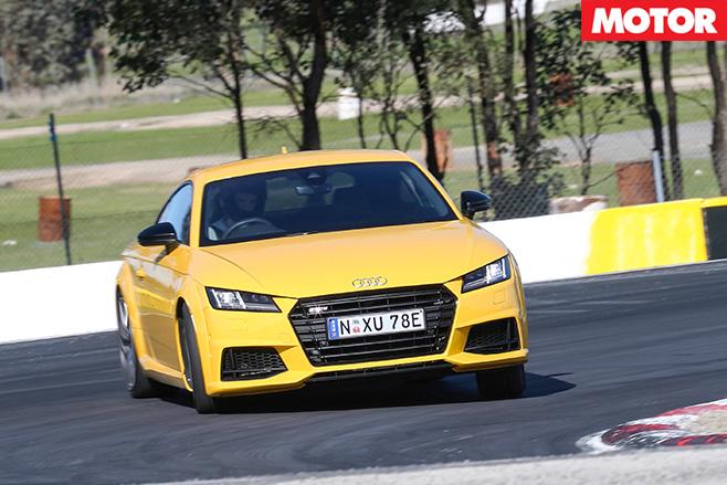 Audi TT S cornering