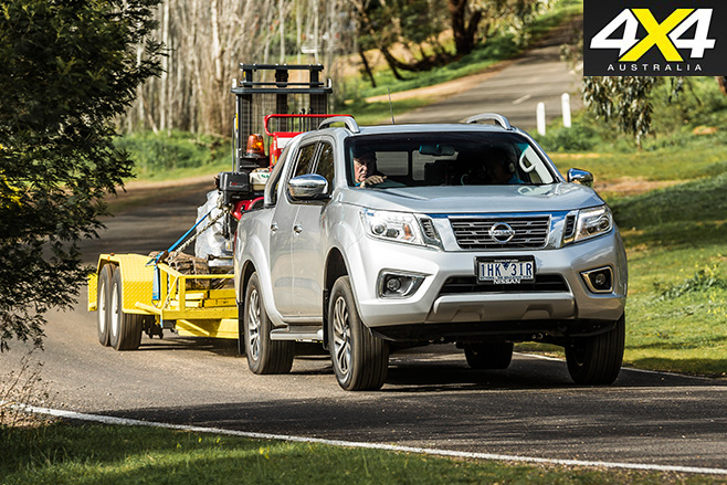 Nissan navara towing trailer