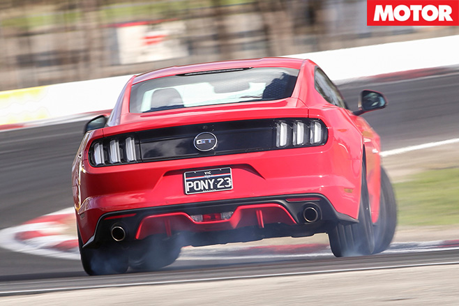 Ford mustang GT rear cornering