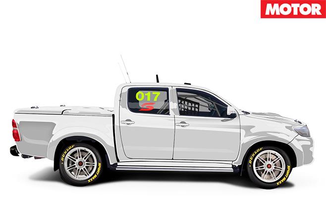 Toyota Hilux superute side