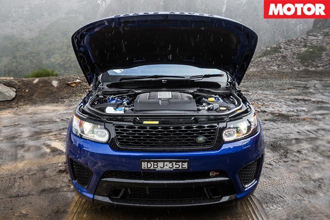 Ranger Rover SVR engine