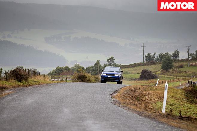 Ranger Rover -SVR driving Tasmania