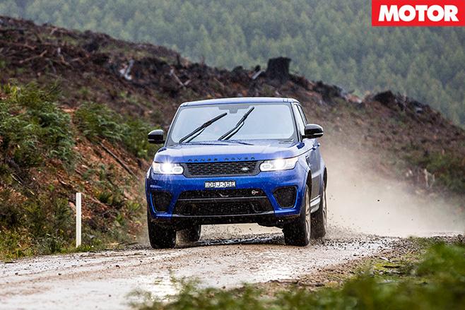 Range Rover SVR driving front