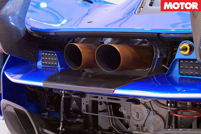 Road legal McLaren  P1 GTR exhaust
