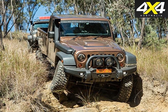 Jeep wrangler ute front
