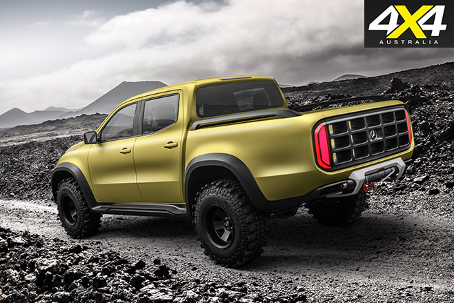Mercedes-Benz unveils X-Class Pick-up rear