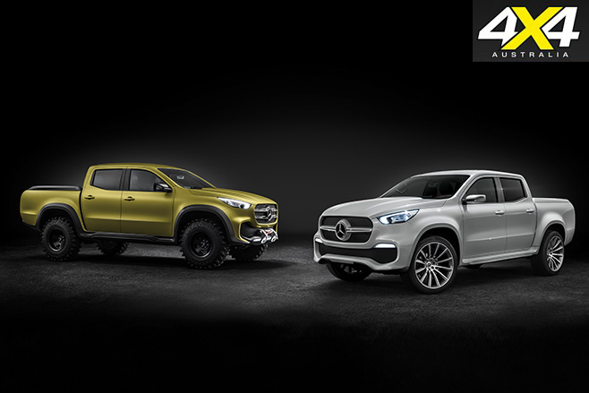 Two Mercedes Benz X Class versions
