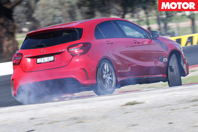 Mercedes-AMG A45 rear driving