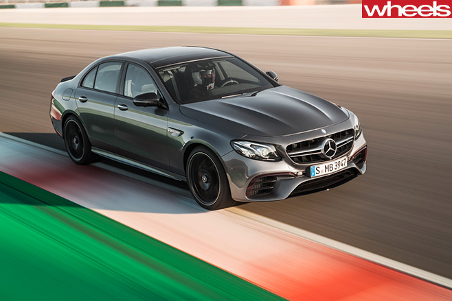 Mercedes -AMG-E63-driving -front -side -track