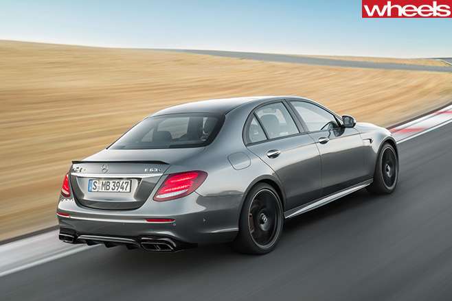 Mercedes -AMG-E63-driving -rear -side