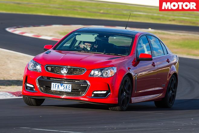 Holden SS-V redline driving