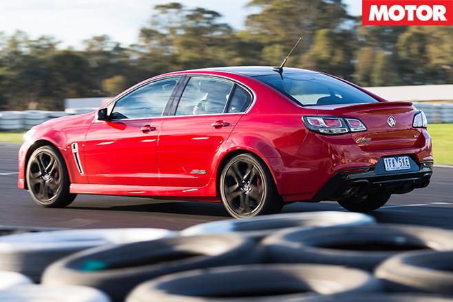 Holden SS-V redline rear driving