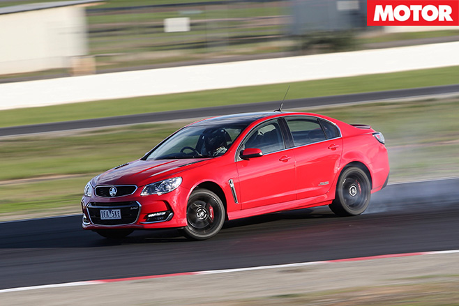 Holden SS-V redline driving fast