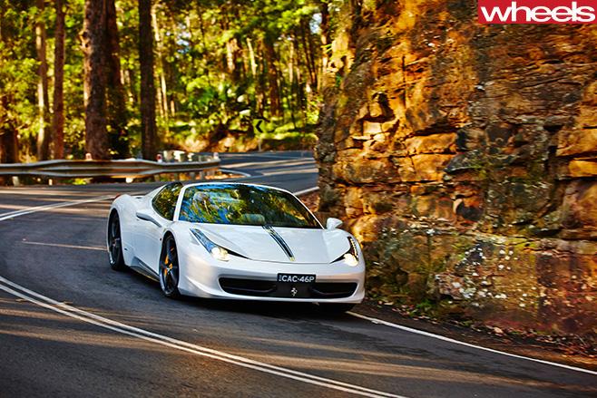 Ferrari -458-convertible -front -corner