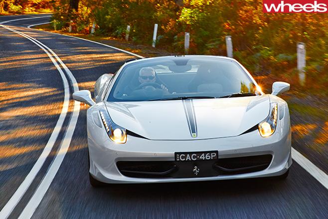 Ferrari -458-convertible -front