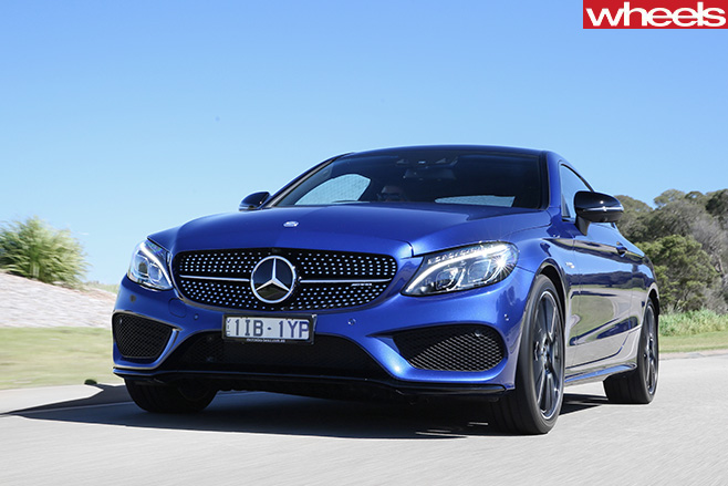 Mercedes -AMG-C43-driving -grille
