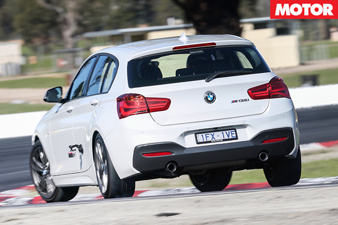 Bmw m135i driving rear