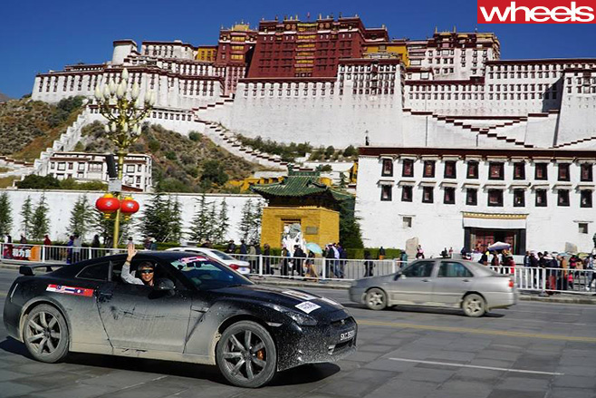 Nissan -GT-R-driving -through -China