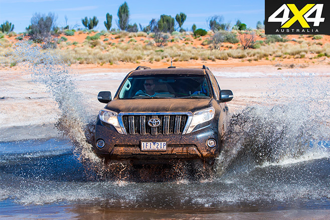Toyota Prado water driving