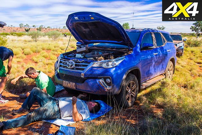 Bush mechanic fixed the Fortuner