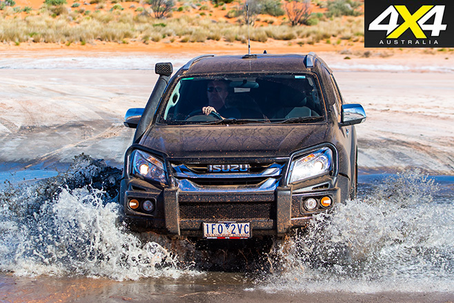 Isuzu MU-X water driving