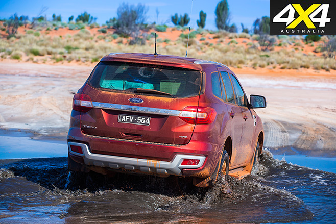 Ford everest rear water driving