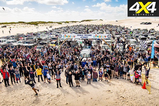 4WD community at Lancelin's record attempt