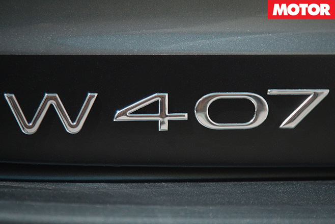 W407 badge