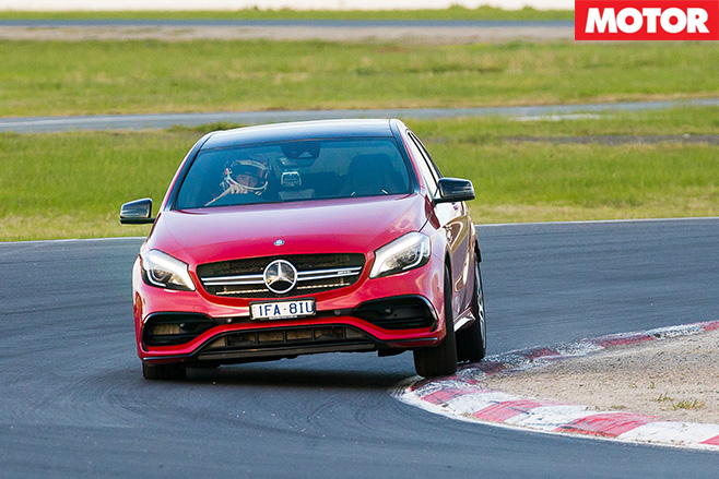 Mercedes-AMG A45 driving