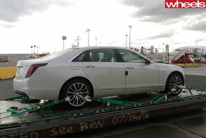 White -Cadillac -CT6-rear