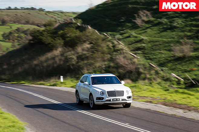 2016 Bentley Bentayga driving scenic roads